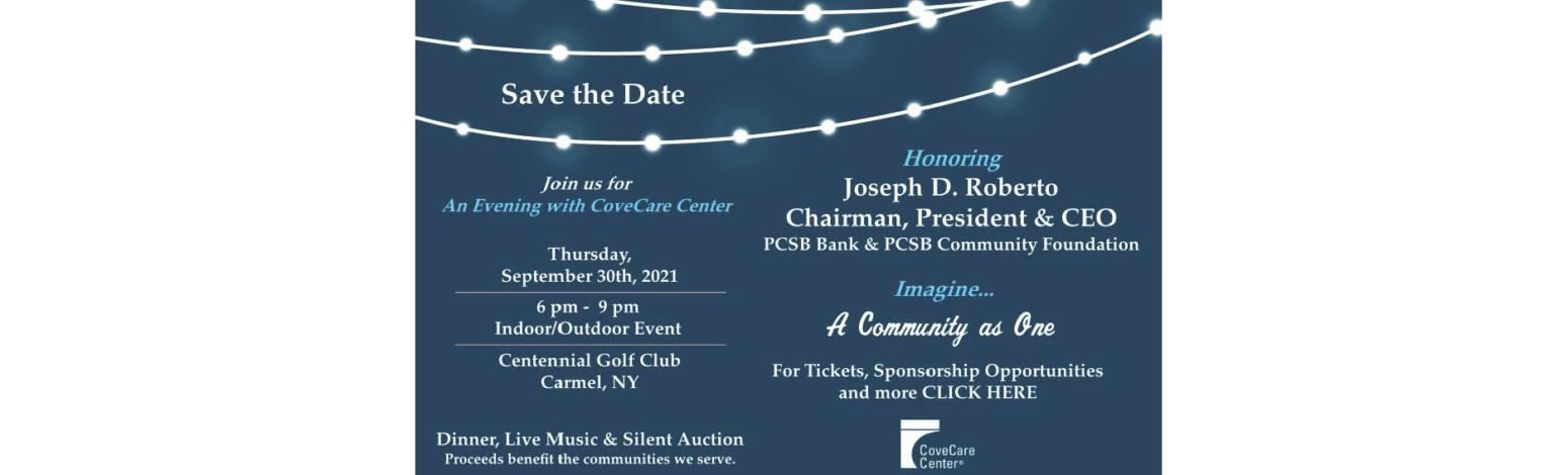 Joseph D. Roberto, PCSB Bank, Foundation, CoveCare Center, Fundraiser, Centennial Golf