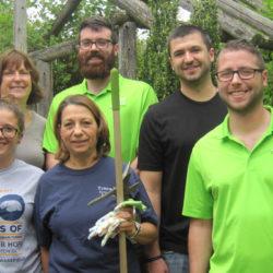 Volunteers from JMP in Children's Garden